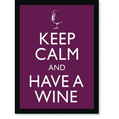 Quadro Poster Art Digital Keep Calm Wine