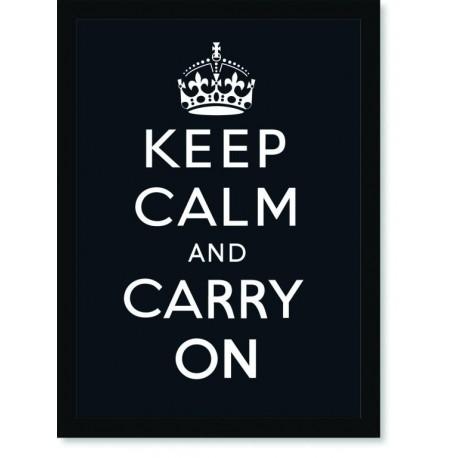 Quadro Poster Art Digital Keep Calm Carry Black