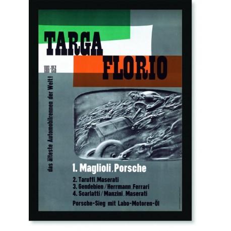 Quadro Poster Carros Porsche Targa Florio