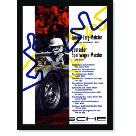 Quadro Poster Carros Porsche Europa Berg Meister