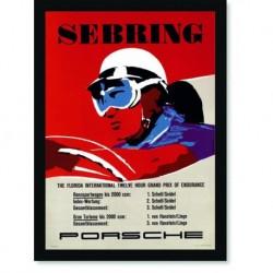 Quadro Poster Carros Porsche Sebring