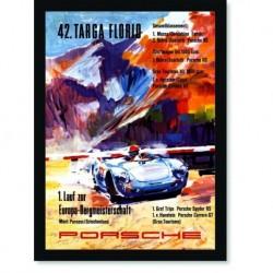 Quadro Poster Carros Porsche Targa Florio 42