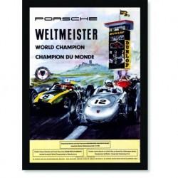 Quadro Poster Carros Porsche Weltmeister