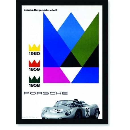 Quadro Poster Carros Porsche Europa Bergmeisterschaft