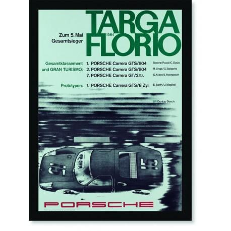 Quadro Poster Carros Porsche Targa Florio 1964