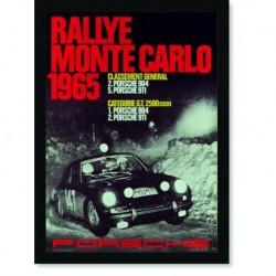 Quadro Poster Carros Porsche Rallye Monte Carlo 1965