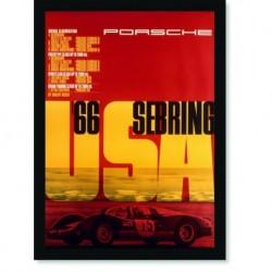 Quadro Poster Carros Porsche Sebring USA 66