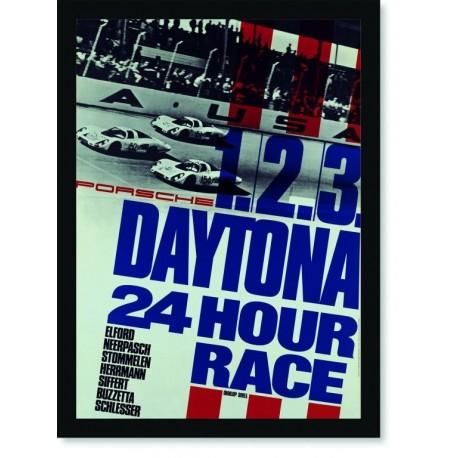 Quadro Poster Carros Porsche Daytona 24 Hour Race