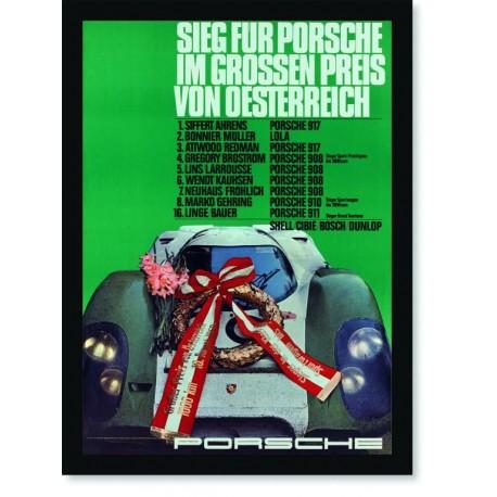 Quadro Poster Carros Porsche Sieg Fur