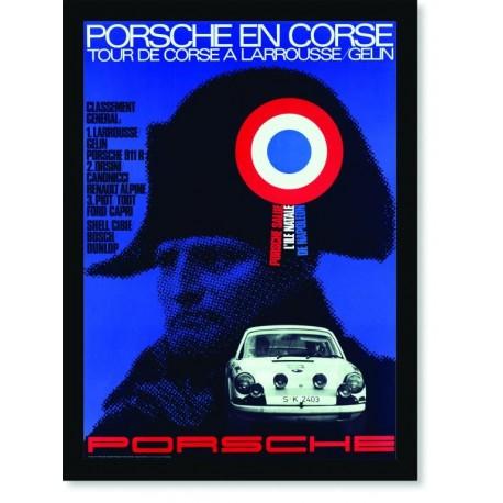 Quadro Poster Carros Porsche En Corse de Napoleon