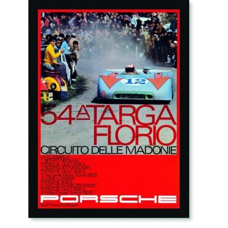 Quadro Poster Carros Porsche Targa Florio 54