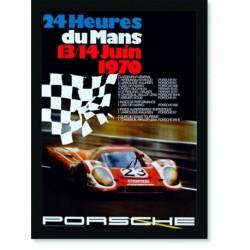 Quadro Poster Carros Porsche 24 Horas de Le Mans 1970