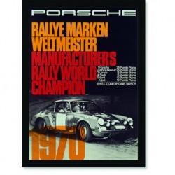 Quadro Poster Carros Porsche Rallye Marken 1970