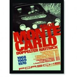 Quadro Poster Carros Porsche Rallye Monte Carlo