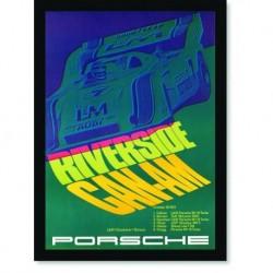 Quadro Poster Carros Porsche Riverside Can Am
