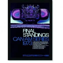 Quadro Poster Carros Porsche Final Standings 1973 Red
