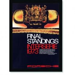 Quadro Poster Carros Porsche Final Standings 1973 Yellon