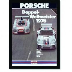 Quadro Poster Carros Porsche Doppel Weltmeister 1976