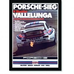 Quadro Poster Carros Porsche Vallelunga