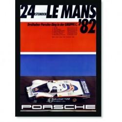 Quadro Poster Carros Porsche 24 Horas Le Mans 1982