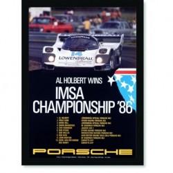 Quadro Poster Carros Porsche IMSA Championship 86