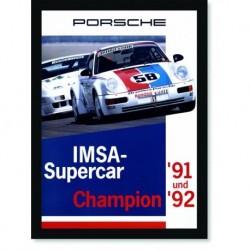 Quadro Poster Carros Porsche IMSA Supercar Champion