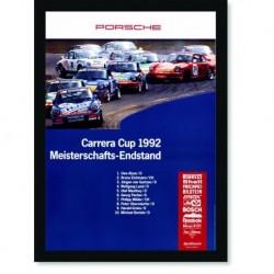Quadro Poster Carros Porsche Carrera Cup 1992