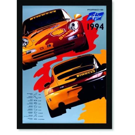 Quadro Poster Carros Porsche Supercup 1994