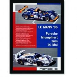 Quadro Poster Carros Porsche Le Mans 96