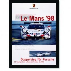 Quadro Poster Carros Porsche Le Mans 98
