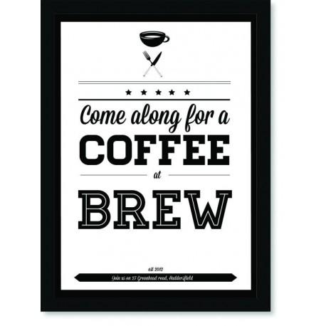 Quadro Poster Cozinha Come Along for a Coffee