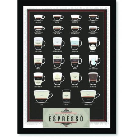 Quadro Poster Cozinha Exceplional Expressions of Espresso