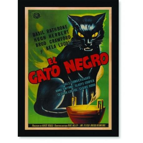 Quadro Poster Cozinha El Gato Negro