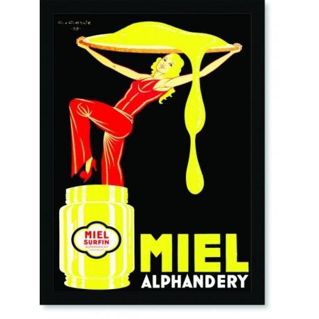Quadro Poster Cozinha Miel Alphandery