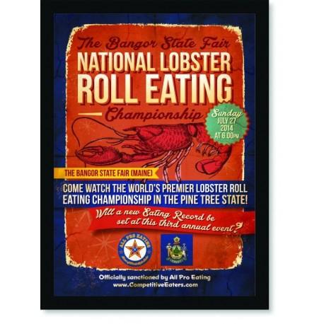 Quadro Poster Cozinha National Lobster Roll Eating
