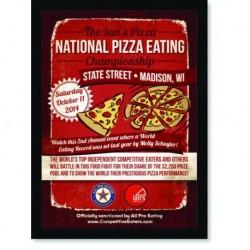 Quadro Poster Cozinha National Pizza Eating