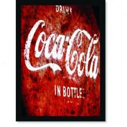 Quadro Poster Cozinha Drink Coca Cola In Bottles