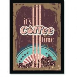 Quadro Poster Cozinha Its Coffee Time