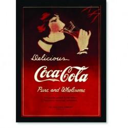Quadro Poster Cozinha Delicious Coca Cola Pure And Wholesome