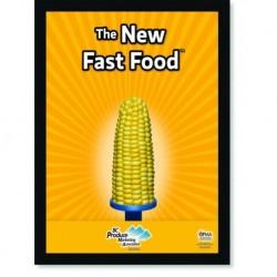 Quadro Poster Cozinha The New Fast Food Corn