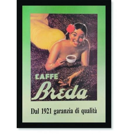 Quadro Poster Cozinha Caffe Breda