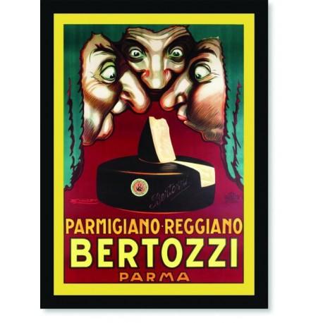 Quadro Poster Cozinha Parmigiano Reggiano Bertozzi Parma