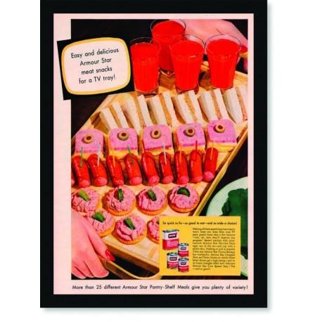 Quadro Poster Cozinha Armour Ham Chopped