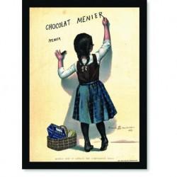 Quadro Poster Cozinha Chocolat Menier