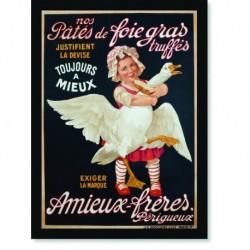 Quadro Poster Cozinha Foie Gras Truffes