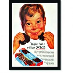 Quadro Poster Cozinha Wish I Dad a Milion Oreos