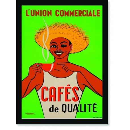 Quadro Poster Cozinha Lunion Commerciale Cafes de Qualite