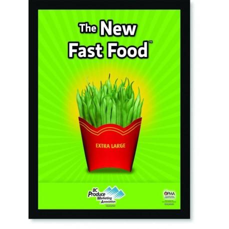 Quadro Poster Cozinha The New Fast Food String Bean