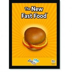 Quadro Poster Cozinha The New Fast Food Orange