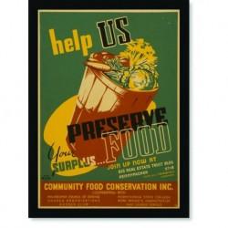 Quadro Poster Guerra Help Us Preserve Food